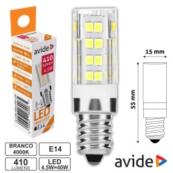 Lâmpada LED E14 Jd 4.5W 230V 4000k 410lm - Avide
