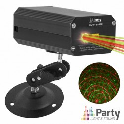 Laser 120mW Vermelho/Verde Mic - PARTY
