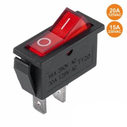 Interruptor Basculante 15A-250v Spst ON-OFF Vermelho