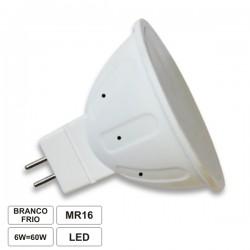 Lâmpada MR16 6W/40W 12V LED Branco Frio 420lm