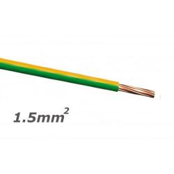Fio Eléctrico Multifilar V 1,5mm² (Bobine 100mt) - Verde/Amarelo