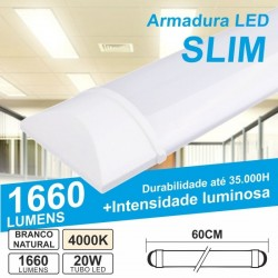 Armadura LED Slim 20W 4500k 1660Lm