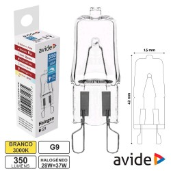 Lampada Halog G9 230v 28w-37w 350lm - Avide
