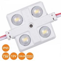 Módulo C/ 4 LEDS 5730 1.6W Branco Quente 120lm 12V IP65 - PROK