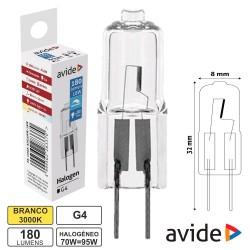 Lampada Halogéneo G4 12v 18w-24w 180lm - Avide