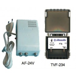 Kit Amplificador de mastro TVF-234+ Alim. AF-24V - Manata KIT-534