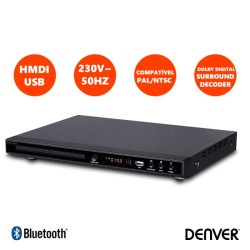 DVD LEITOR DENVER FULL HD HDMI/USB 1080p