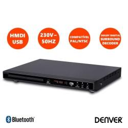 Leitor DVD FULL HD 1080p HDMI/USB - Denver