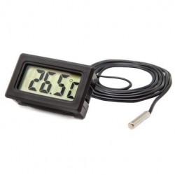 Termometro Digital Simples com Sonda Preto