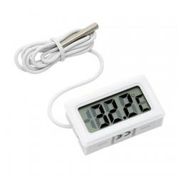 Termometro Digital Rectângular C/Sonda (-50ºC .. 100ºC) Branco