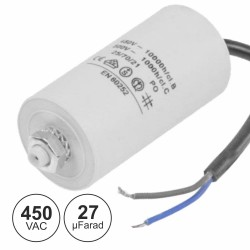 Condensador Arranque 27uf 450v C/ Fios