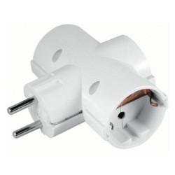 Tomada Elétrica c/ 3 Saídas Branco - ENTAC