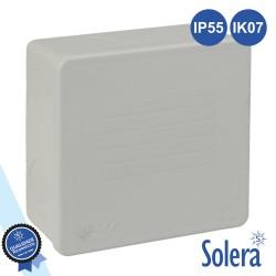 Caixa De Passagem Estanque Lisa 80x80x35mm Ip55 - Solera