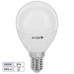 Lampada LED E14 Globo G45 6W 6400k 480lm - Avide