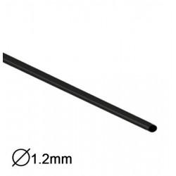Manga Termoretractil 1m 2:1 Ø1.2-0.6mm Preta