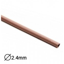 Manga Termoretractil 1m 2:1 Ø2.4-1.2mm Castanha