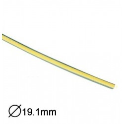 Manga Termoretractil 1m 2:1 Ø12.7»6.35mm Amarelo/Verde