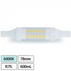 Lâmpada LED R7S 78mm 6W Branco Frio 600Lm 360º