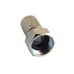Ficha F Macho para cabo Ø 7/5mm com o'ring incluído