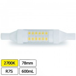 Lampada Led R7s 78mm 6w 2700k 600lm
