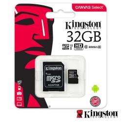 Cartão Memória Micro SDHC 32GB UHS-I Adaptador - KINGSTON