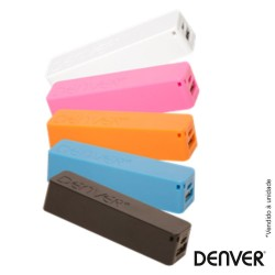 Bateria Power Bank C/ Usb + Cabo 2600ma Várias Cores - Denver