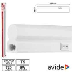 Armadura LED 9W 60cm IP20 3000k 710lm - AVIDE