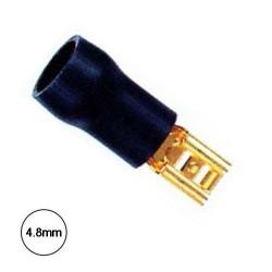 Terminal Faston Fêmea 4.8mm Dourado