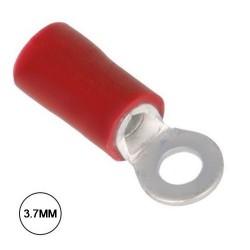 Terminal Olhal Isolado 3.7mm 10X Vermelho Velleman