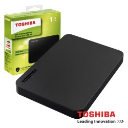 "Disco Externo HDD CANVIO BASICS 1TB 2.5"" USB3.0 - Toshiba"