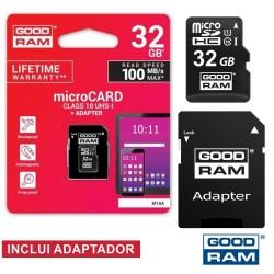 Cartão Memória Micro SD 32Gb Class10 Adaptador - GOODRAM