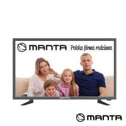 """TV DLED 24"""" HD HDMI USB 2 Colunas 6W 230/12V - MANTA"""
