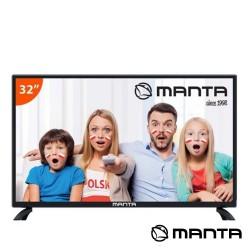 "TV LED 32"" Hd 3 HDMI USB Dvb-T/C 2 Colunas 10W - MANTA"