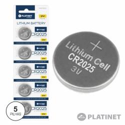 Pilha Lithium Cr2025 3V (5X Blister) - Platinet