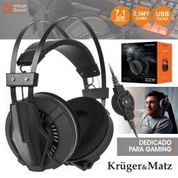 Auscultadores Gaming 7.1 Zone Pro - Kruger Matz