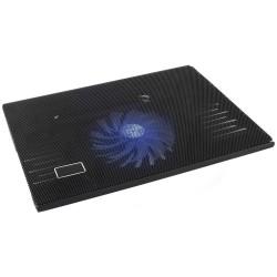"""Base De Refrigeração P/ Portátil Até 15.6"""" USB C/ LED Azul"""