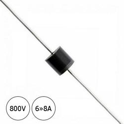 Diodo P600K 800V 6»8A