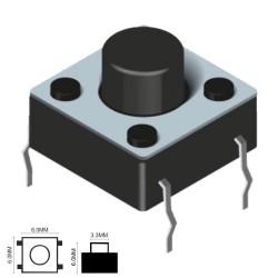 Pulsador Micro Switch 6X6mm Altura 6mm