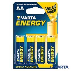Pilha Alcalina LR6/AA 1.5V 4x Blister – Varta