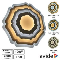 Candeeiro Teto/Parede LED 100W 3000K-4000K-6400K - AVIDE