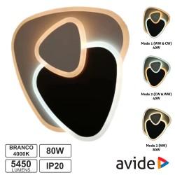 Candeeiro Teto/Parede LED 80W 3000K-4000K-6400K - AVIDE