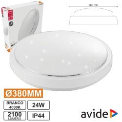 Painel LED Redondo Aplique 24W 380mm 4000k 2100lm - Avide