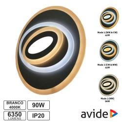 Candeeiro Teto/Parede LED 90W 3000K-4000K-6400K - AVIDE
