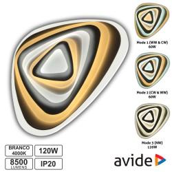 Candeeiro Teto/Parede LED 120W 3000K-4000K-6400K - AVIDE