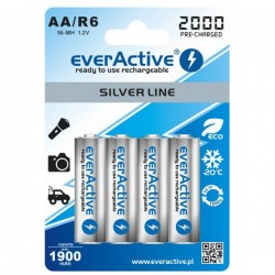 Baterias NiMh AA 2000mAh RTU - EverActive