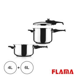 Conjunto 2 Caçarolas 4L+6L - Flama