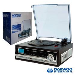 Gira-Discos 33/45/78RPM Retro 2x1.5W USB/SD/Aux - DAWEOO