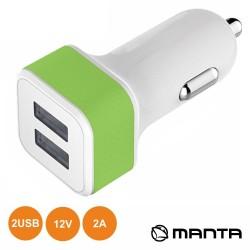 Adaptador Ficha Isqueiro 12V/24V / 2 USB 5v 1A - MANTA