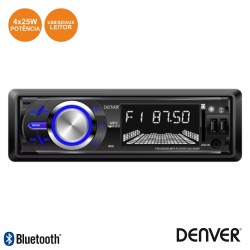 Auto-Rádio Mp3 Wma 25Wx4 C/ FM/Pll/Mmc/SD/USB Bluetooth
