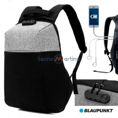 Mochila C/ Porta USB E Sistema Anti Roubo - BLAUPUNKT